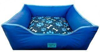 Cama Caminha Pet Semi Impermeável 60x60 M Azul Gorgurinho