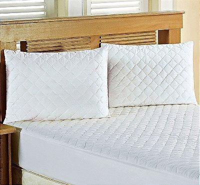 Protetor de Travesseiro IMPERMEÁVEL Matelado Branco