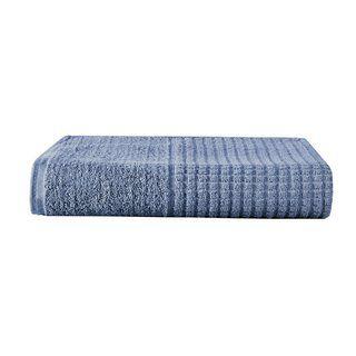 Kit 02 Toalhas de Banho Azul Jeans 100% Algodao Linha Paris