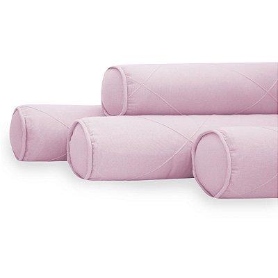 Kit 04 Rolinhos Para Berço Americano Moderninhos Rosa