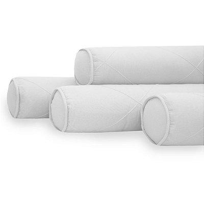 Kit 04 Rolinhos Para Berço Americano Moderninhos  White