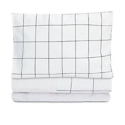 Jogo de lençol Moderninhos Solteiro 3 Peças Grid