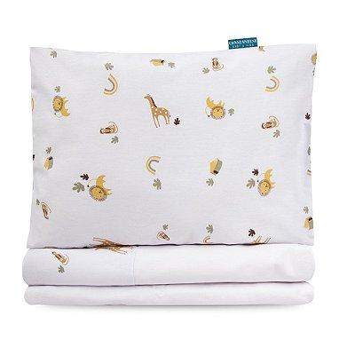 Jogo lençol Moderninhos Montessoriano Mini Cama Boho Safari