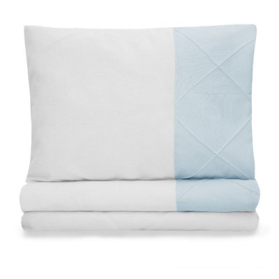 Jogo de lençol Moderninhos Montessoriano Mini Cama Blue