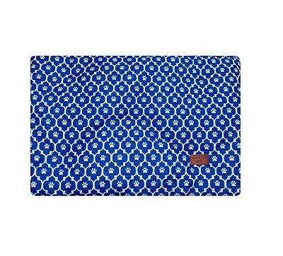 Colchonete Impermeável Caes e Gatos Pequeno 0,65x0,45 Azul