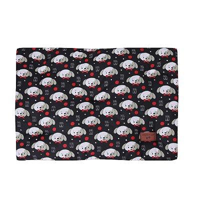 Colchonete Retangular Cachorro 0,65x0,45 Tamanho P Preto