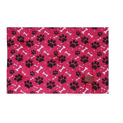 Colchonete Retangular Cachorro 0,65x0,45 Tamanho P Rosa