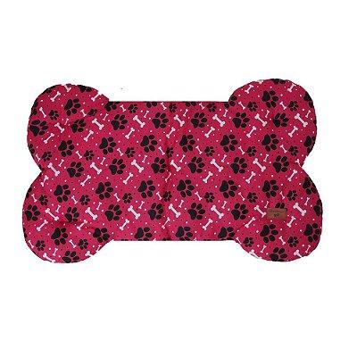 Colchonete Formato de Osso Rosa Matelado