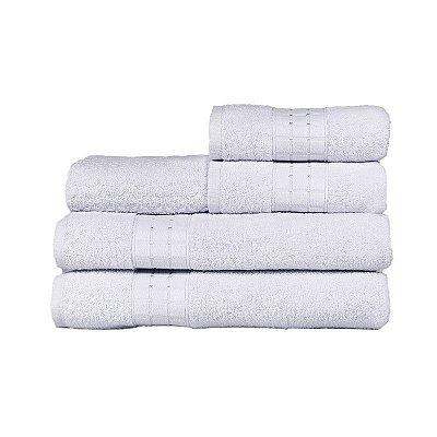 Toalha de Banho Fio Penteado Class 5 Peças Branco