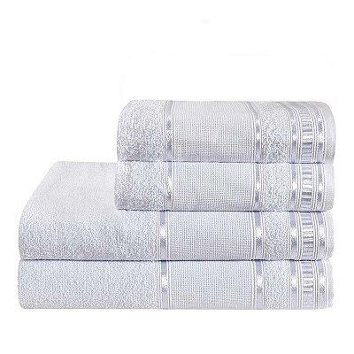 Jogo De Toalha De Banho 4 Peças Linha Premium Branco