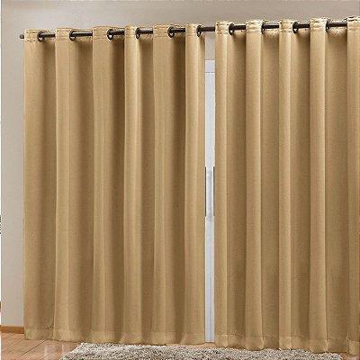 Cortina Blackout Corta Luz 70 % Tecido 4,00 X 2,70 - Dourado
