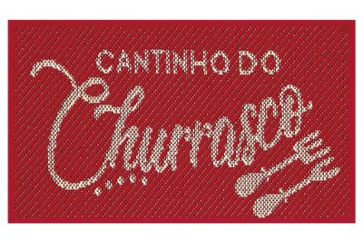 Tapete Cantinho Churrasco Sisal Vermelho40x65 Antiderrapante