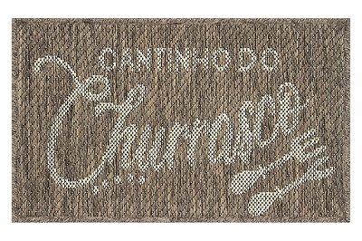 Tapete Cantinho Churrasco Sisal Bege 40 x 65 Antiderrapante