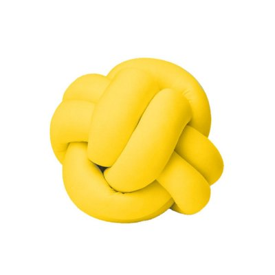 Almofada de Nó Escandinavo Decoração Amarela