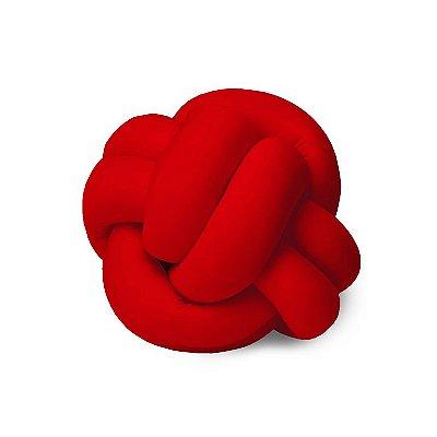 Almofada de Nó Escandinavo Decoração Vermelha