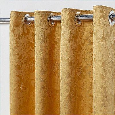 Cortina Em Tecido Jacquard 2,80 M X 2,30 M - Dourado