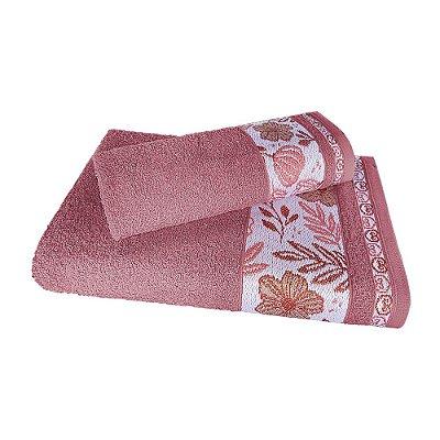 Jogo de Toalha de Banho Monalisa 2 Peças Rubine Rosa