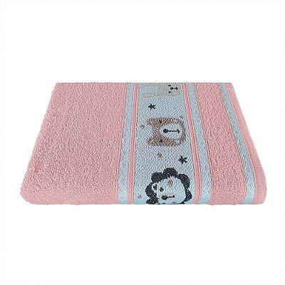 Toalha de Banho Avulsa Linha Puppy Infantil Rosa Rose