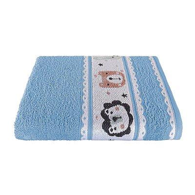 Toalha de Banho Avulsa Linha Puppy Infantil Azul