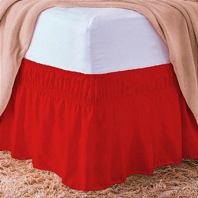 Saia Box Casal Padrão Vermelha 1,38m x 1,88m x 40cm altura