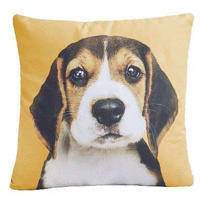 Almofada Decorativa Cheia 42cm X 42cm Estampa Dog Amarela
