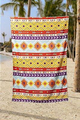 Toalha de Praia Piscina Summer 0,90x1,50 Seca Rápido Etnico