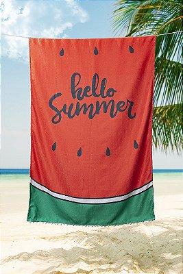 Toalha de Praia Piscina Summer Seca Rápido Melancia