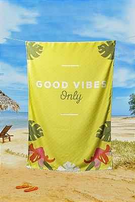 Toalha de Praia Piscina Summer Seca Rápido Good Vibes