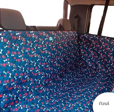 Cama Cachorro Protetora Carro Cinto Fundo Impermeável Azul