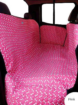 Cama Cachorro Protetora Carro Cinto Fundo Impermeável Pink