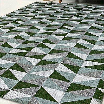 Tapete Antiderrapante 1,35m X 1,00m Verde Dallas