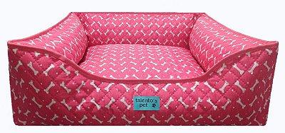 Caminha 100% Impermeavel Cachorro Gato Media 60x60 Rosa