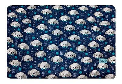 Colchonete Impermeável Caes e Gatos P 0,65x0,45 Azul Marinho