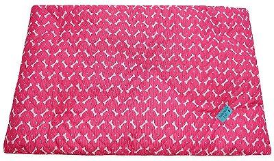 Colchonete Impermeável Caes e Gatos Grande 1,00x0,60 Rosa