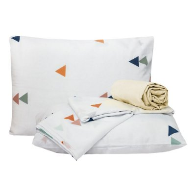 Jogo de lençol Casal Escandinavo Colorido Classic 4 Peças