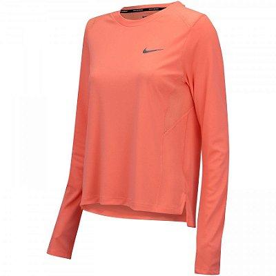 Camiseta Nike Miler Manga Longa Feminina - Tamanho [M]