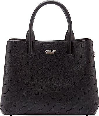 Bolsa Vogue Tiracolo com Alça de Mão - Black