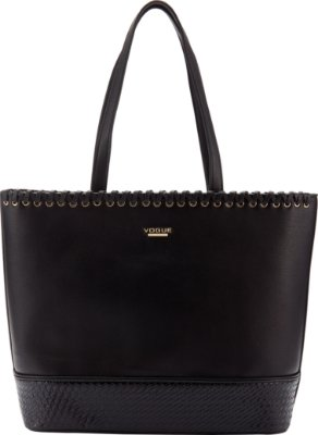 Bolsa Vogue Lisa Texturizada - Black