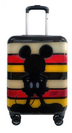 Mala De Viagem Mickey Mouse Rigida Abs Rodas 360 - Média