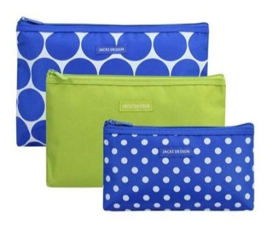 Kit Necessaire Jack Design - Azul/ Verde