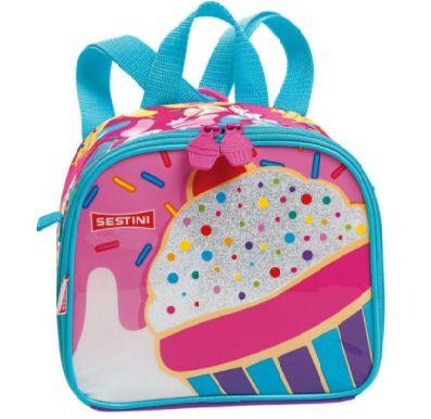 Lancheira Feminina Escolar Infantil Cupcake Sestini