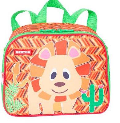 Lancheira Pequena Zoo Lion Sestini Kids - Laranja