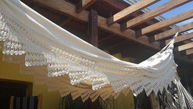 Rede de Descanso Luxo c/ Bico de Crochê