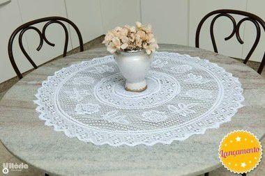 Toalha de Chá redonda Renda