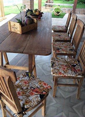Assento de Cadeira Estampado Tucano