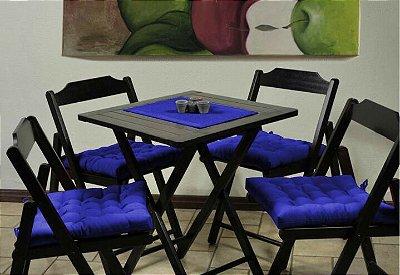 Assento de Cadeira Futon Azul
