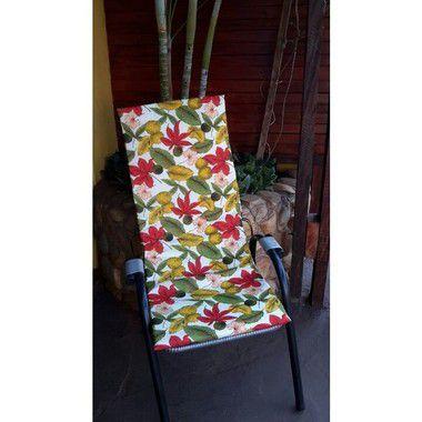 Assento de Cadeira Varanda Caxi Vermelho