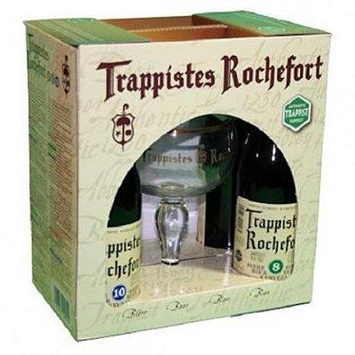 Kit Trappistes Rochefort (4 garrafas + taça)