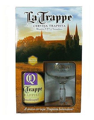 Kit La Trappe Quadrupel 330ml (1 garrafa + 1 taça)