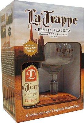 Kit La Trappe Dubbel 330ml (1 garrafa + 1 taça)